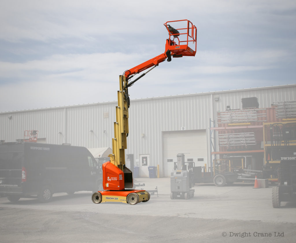 Electric Driveable Articulating Vertical Lift